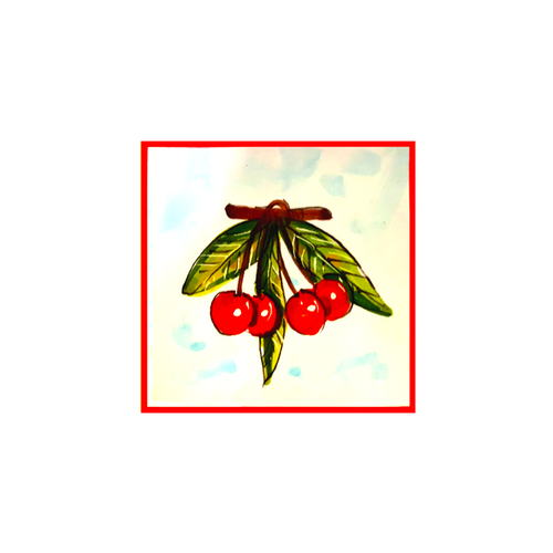 Cherry Tile 3,9 x 3,9 Inches