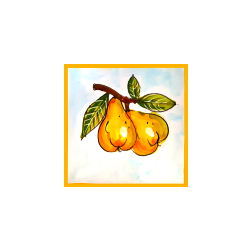 Pear Tile 3,9 x 3,9 Inches