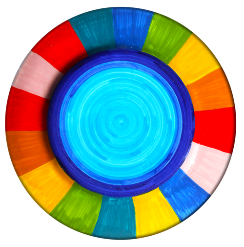 Dinner Plate Rainbow