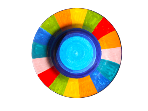 Pasta/Soup Plate Rainbow