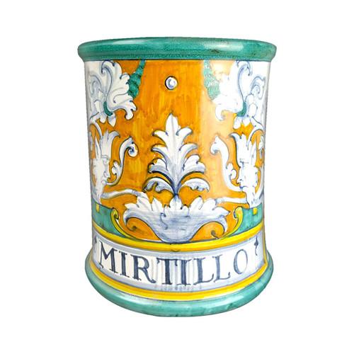 Albarello pottery jar Deruta