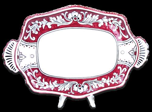 Baroque Tray '600 Fondo Rosso