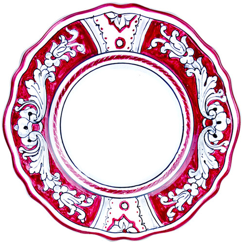 Deruta ceramic dinner plate '600 Red Background