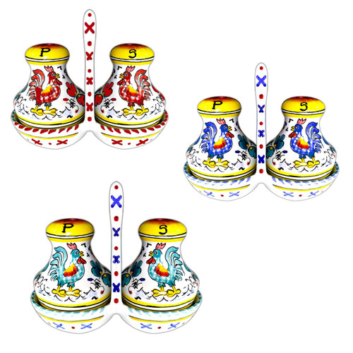 Deruta Ceramics Salt and Pepper Orvietano Decoration