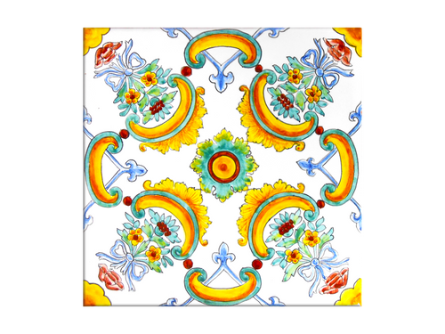 Italian ceramic Tiles handpainted