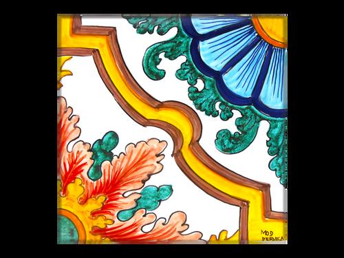 Italian ceramics tiles hand painted