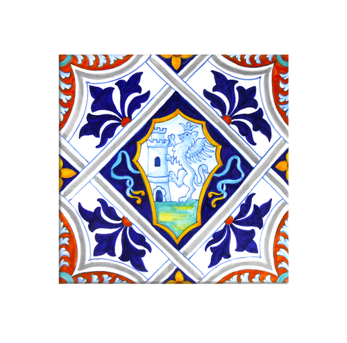 Coat of Arms Tile 7,8 x 7,8 Inches
