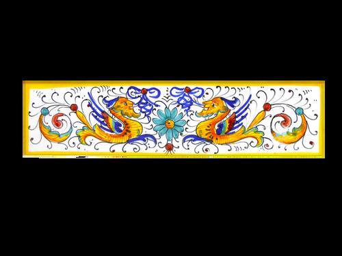 Italian ceramics tiles of Deruta hand painted