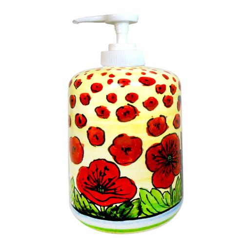 Italian Pottery Soap Dispenser Mod Ceramics