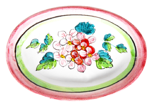 Pottery Soap Dish Ortensie