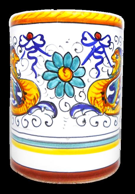 Toothbrush holder Raffaellesco deruta ceramics