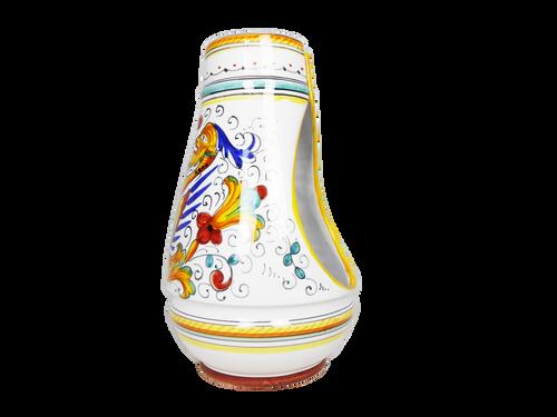Raphaelesque hand-painted ceramic deruta bath brush lateral
