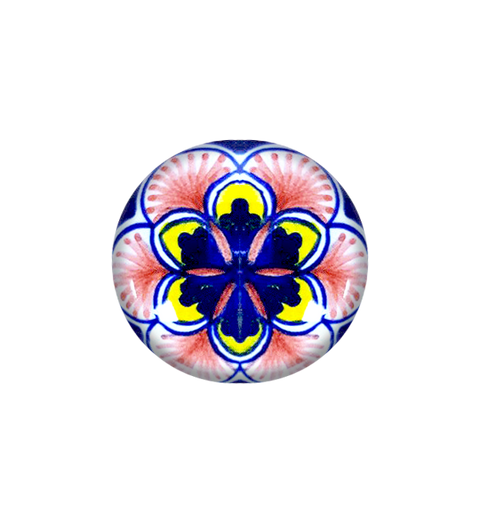 Ceramic knob pink,yellow,blue, red