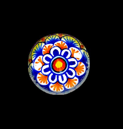 Ceramic italy knob yellow, blu, light red