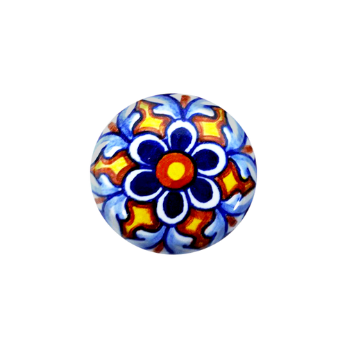Italian pottery knob deruta