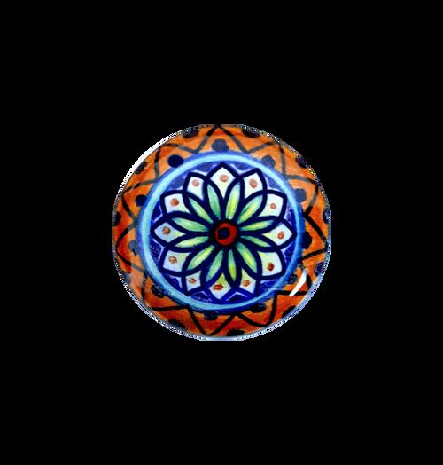 knob of ceramic by deruta handpainted