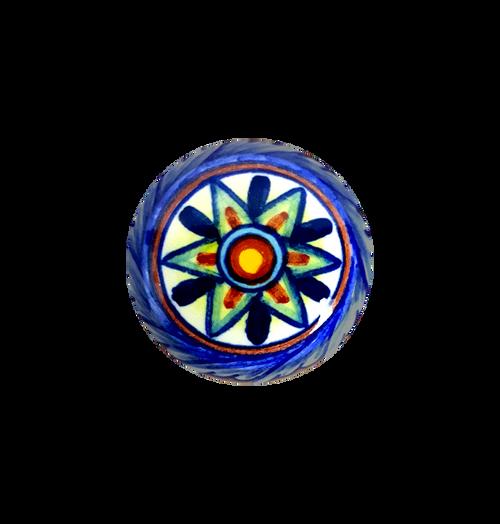 Italian ceramic knob handpainted