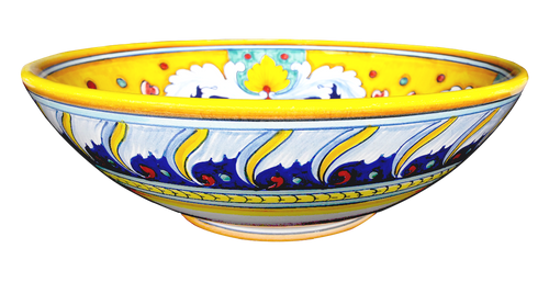 Italian pottery bowl with vario decoration