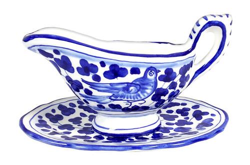 Little Gravy Boat  Arabesco Blu