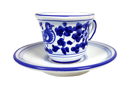 Espresso cup and saucer Arabesco Blu