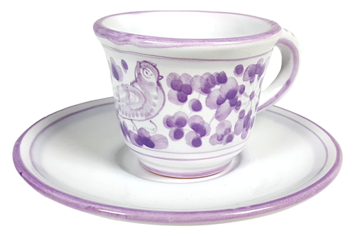 Espresso cup and saucer Arabesco Violet
