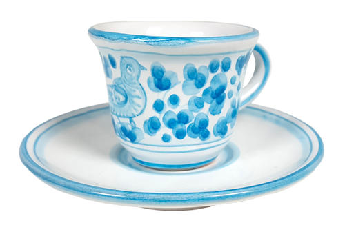 Espresso cup and saucer Arabesco Heavenly