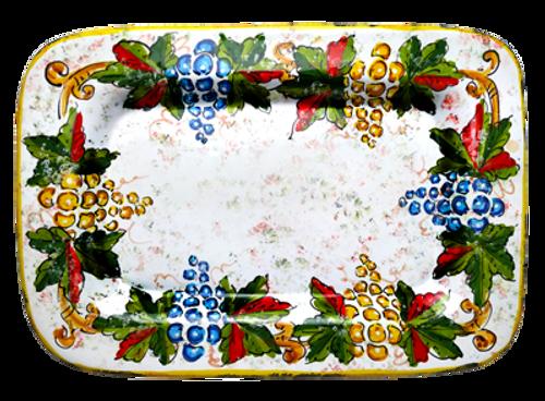 Italian pottery ceramic tray