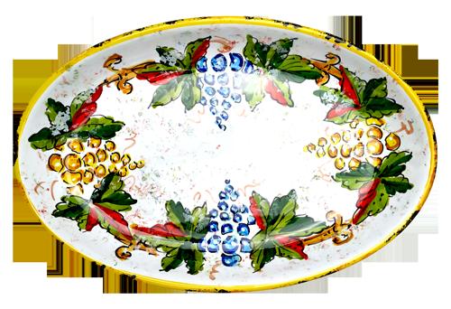 Italian ceramics Oval Tray Handpainted