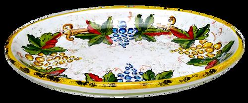 Italian ceramics oval tray