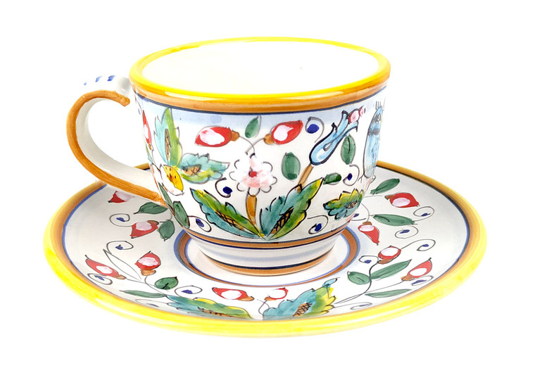 Teacup with plate Love birds