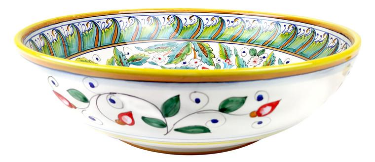 Italian pottery bowl love bird