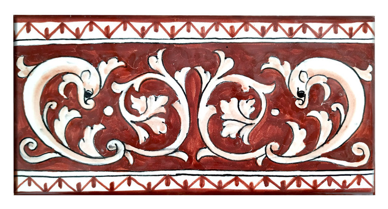Tiles red background
