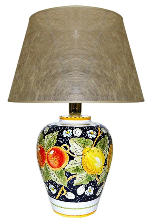 Limoni Fondo Blu  Lamp 10.0 Inches