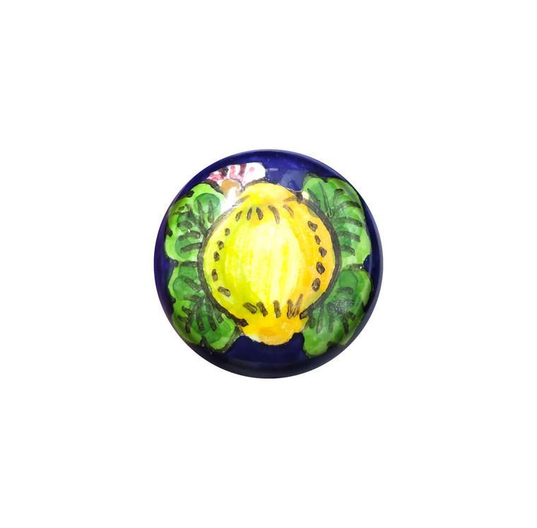 Italian ceramic lemon knob