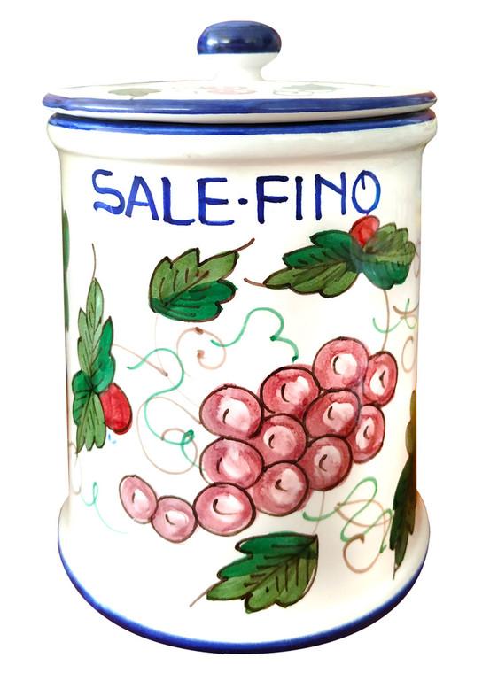 Italian ceramics salt Jar Deruta