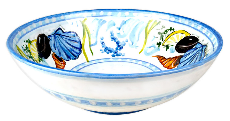 ceramic bowl painting with seafood