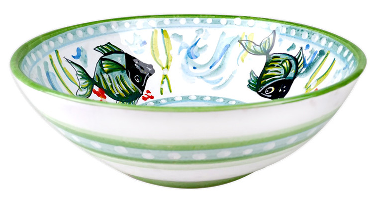 Deruta store bowl with fishes