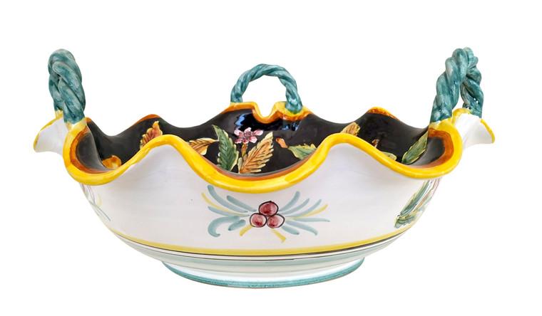 Italian ceramic fruit bowl