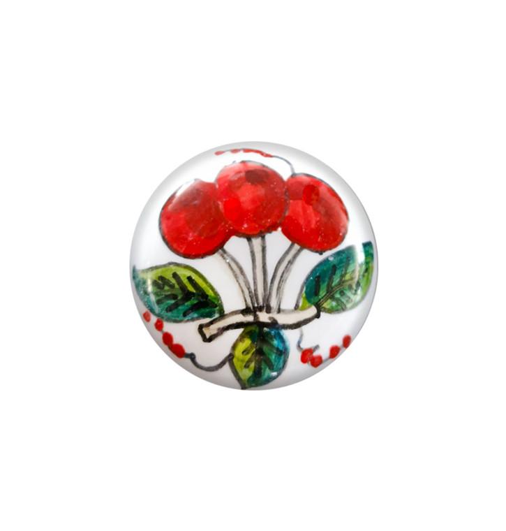 Deruta ceramic knob cherries