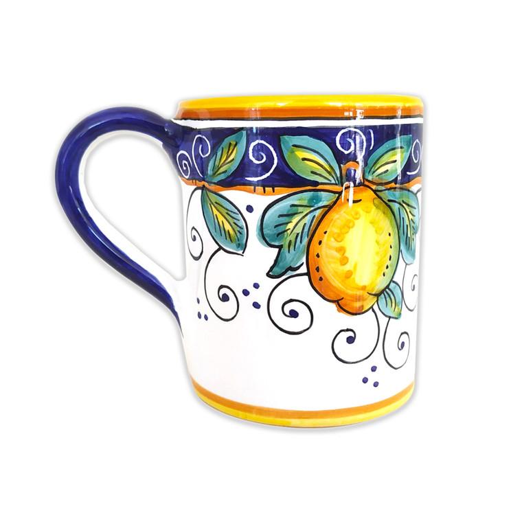 Pottery Mug Alcantara hand painted by Mod DerutaItaly