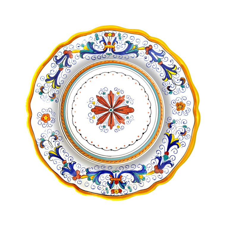 Pasta/soup plate  Ricco deruta decoration for tableware
