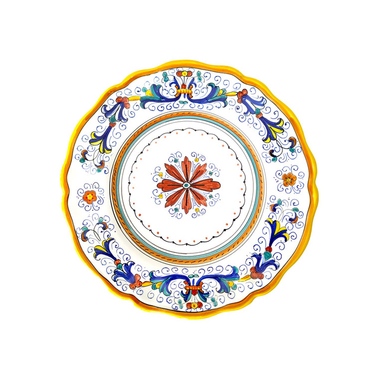 Pottery salad plate  Ricco Deruta