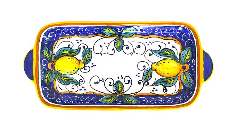 Alcantara Tray 11 Inches hand painted by mod ceramics