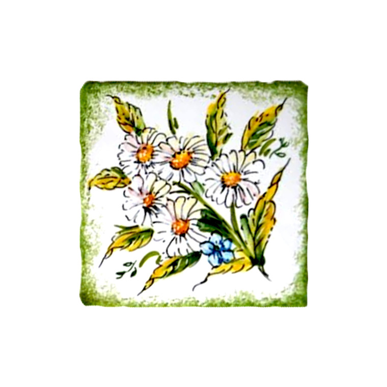 pottery for sale tiles daisy decoration made in Deruta
