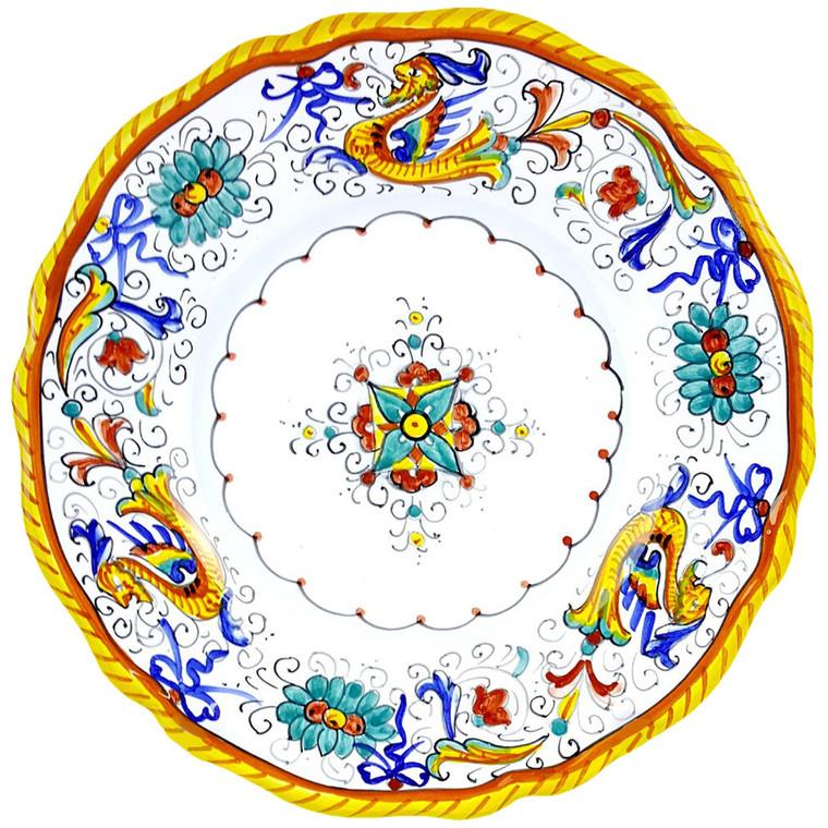 Dinner plate  scallopped edge  Raffaellesco