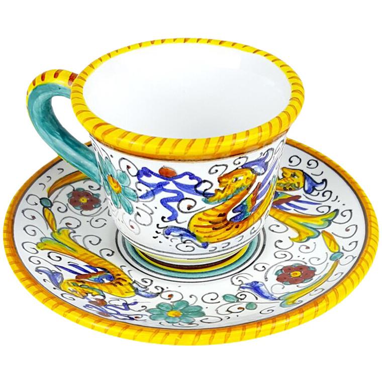 Espresso cup and saucer Raffaellesco