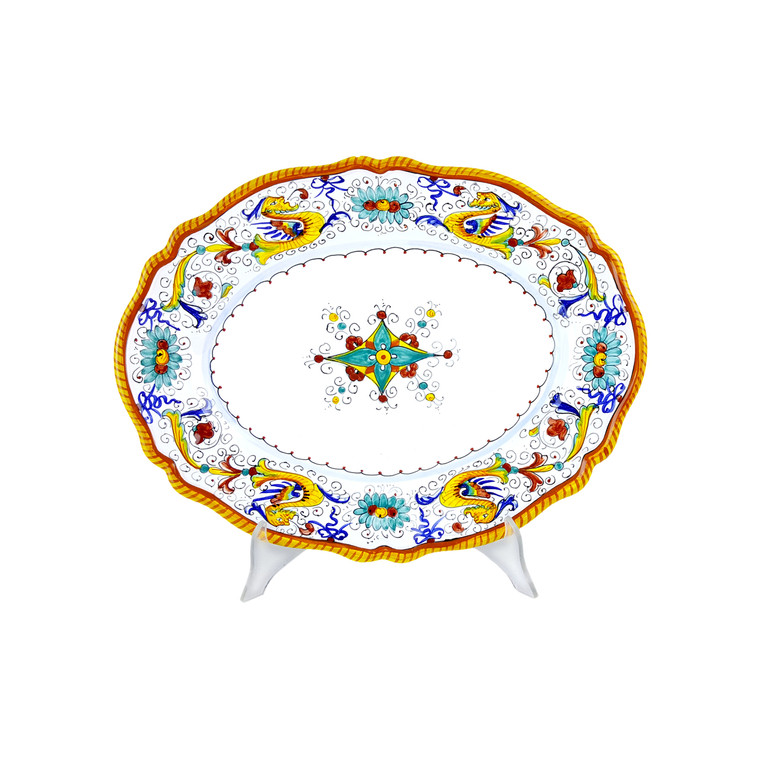 Oval serving raffaellesco