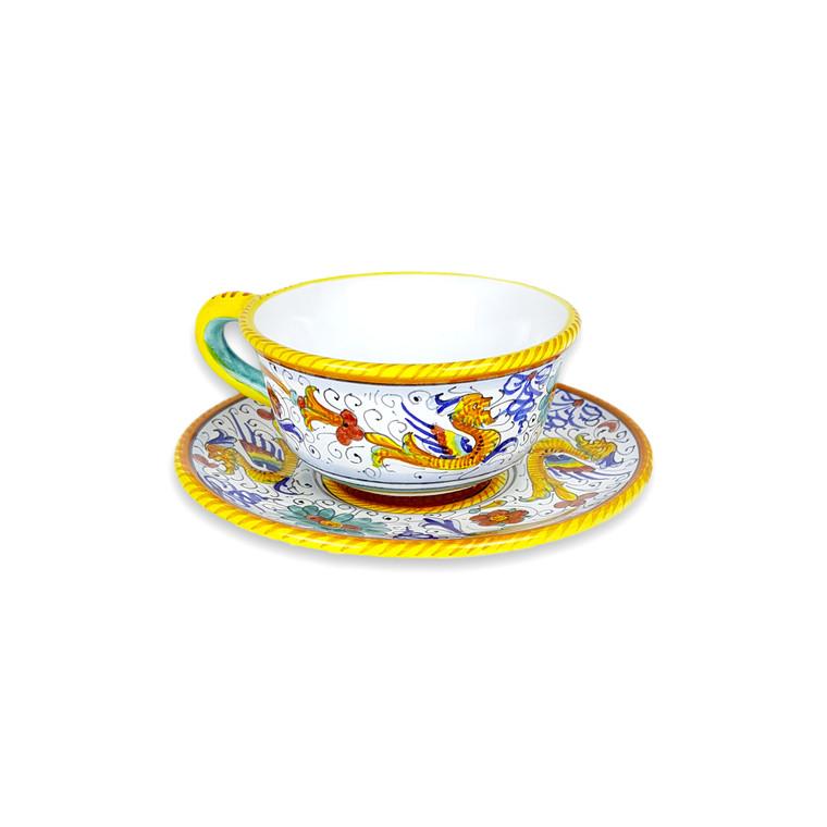 Deruta Tea Cup Raffaellesco Decoration