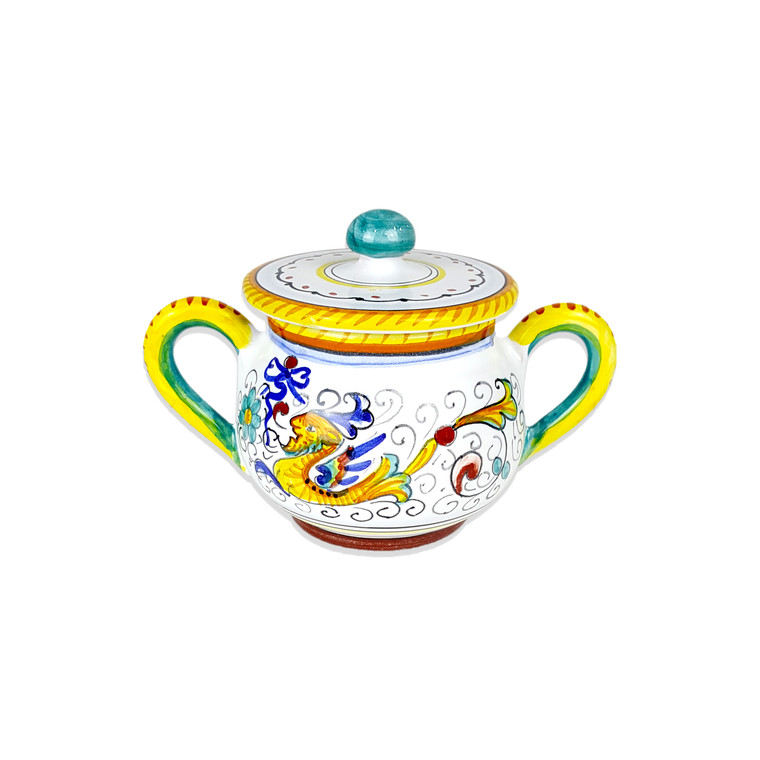 deruta majolica Sugar Bowl For 6 Raffaellesco