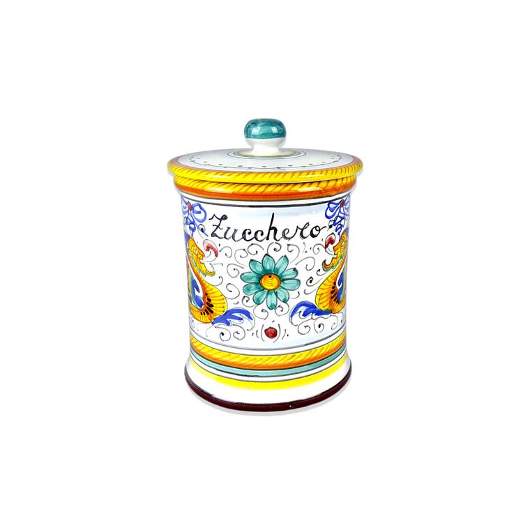 italian ceramics store sugar jar raffaellesco